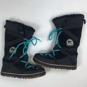 Sorel women's tall black boots sz 8